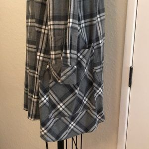 Zara Dresses - ZARA | Grey Plaid Buttonup shirt dress